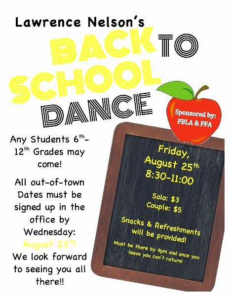 School Dance Flyer Template Awesome south Central Usd 5 Back to School Dance