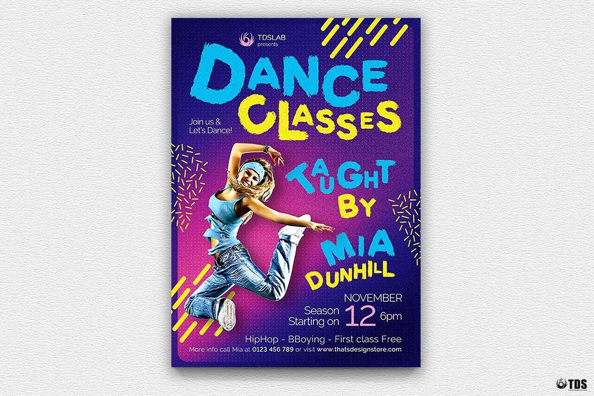 School Dance Flyer Template Beautiful Dance Classes Flyer Template V3