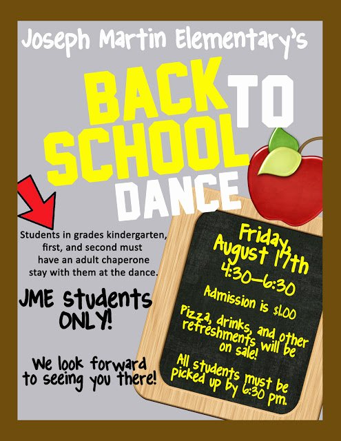 School Dance Flyer Template Beautiful Joseph Martin Elementary School