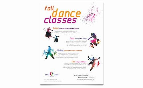 School Dance Flyer Template Elegant Dance School Flyer Templates