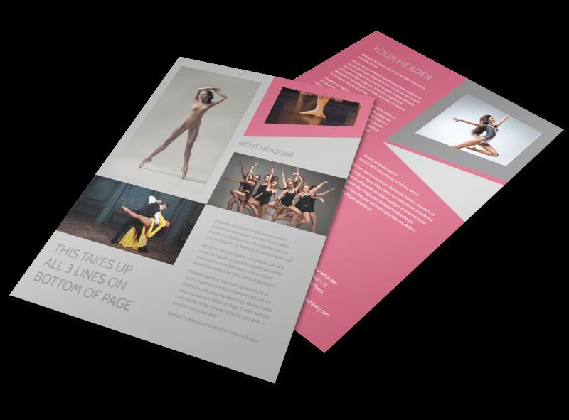 School Dance Flyer Template Inspirational Creative Dance School Flyer Template