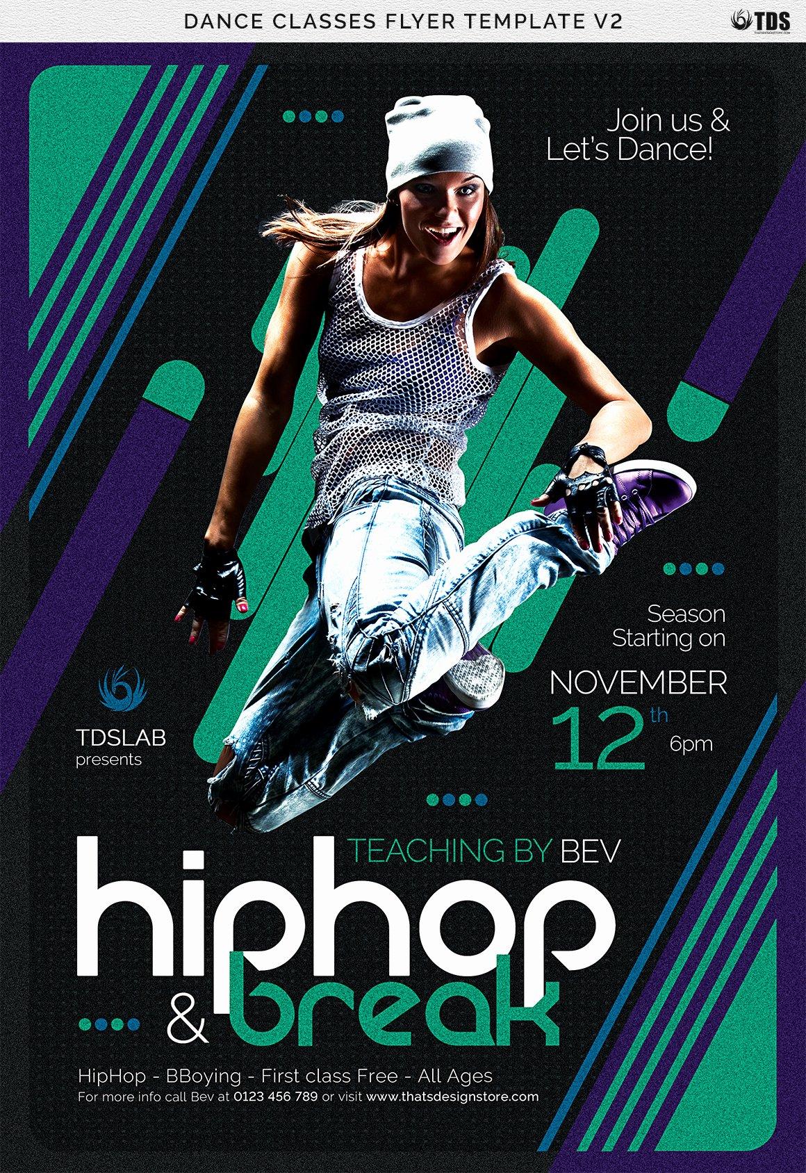 School Dance Flyer Template Inspirational Dance Classes Flyer Template V2