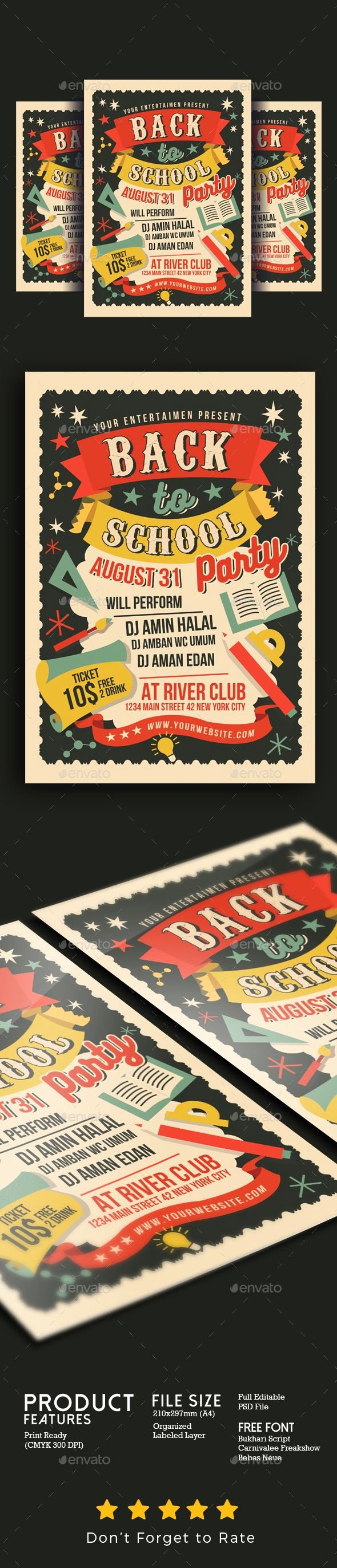 School Dance Flyer Template Inspirational Pin by Best Graphic Design On Flyer Templates