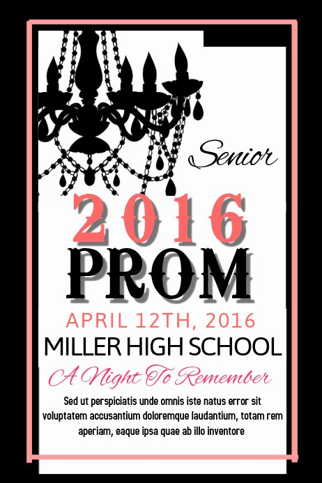 School Dance Flyer Template Luxury Prom Template
