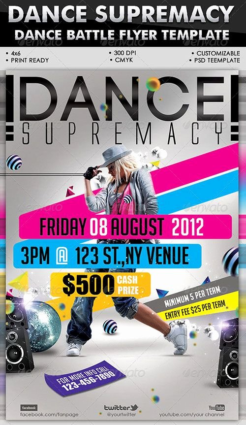 School Dance Flyer Template Luxury Urban Dance Party Club Flyer Poster Template Free Club