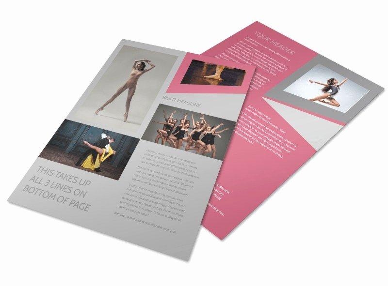 School Dance Flyer Template New Creative Dance School Flyer Template