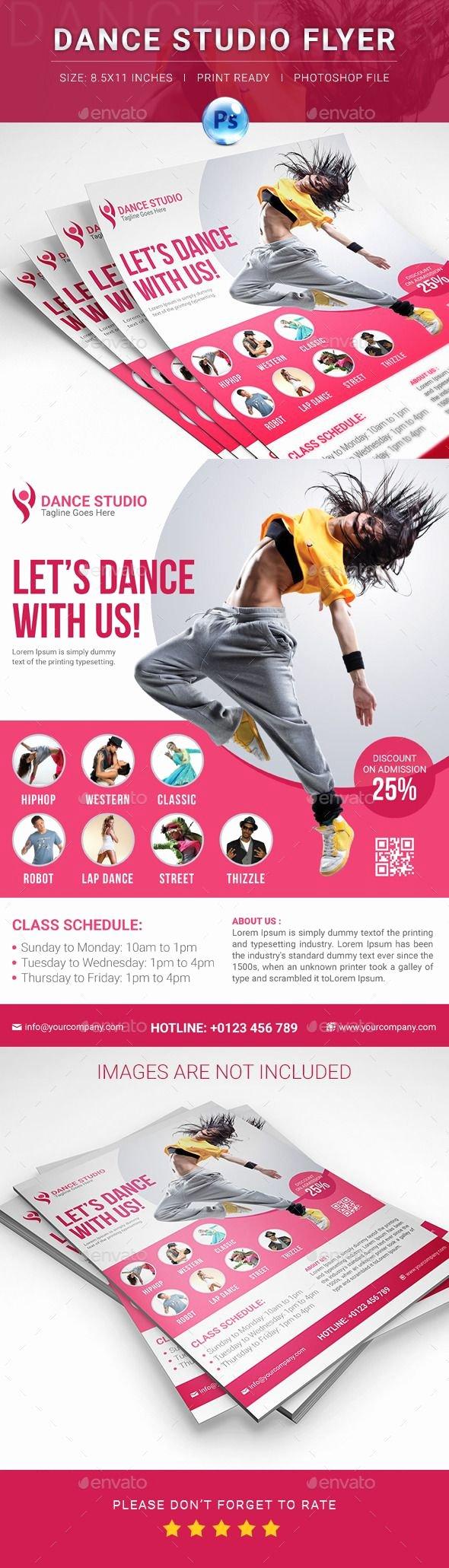 School Dance Flyer Template New Dance Studio Flyer
