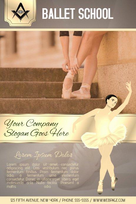 School Dance Flyer Template Unique Ballet School Lessons Flyer Template