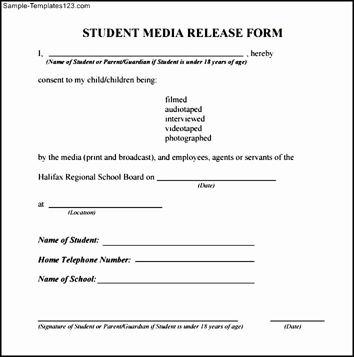 School Media Release form Beautiful 28 Of Media Release form Template