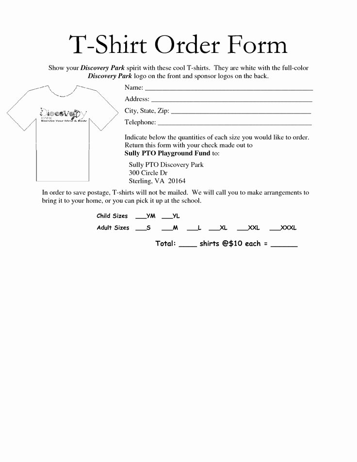 School Photo order form Template Awesome 35 Awesome T Shirt order form Template Free Images