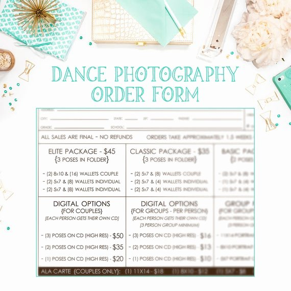 School Photo order form Template Beautiful School Dance Dance Team Graphy order form Template