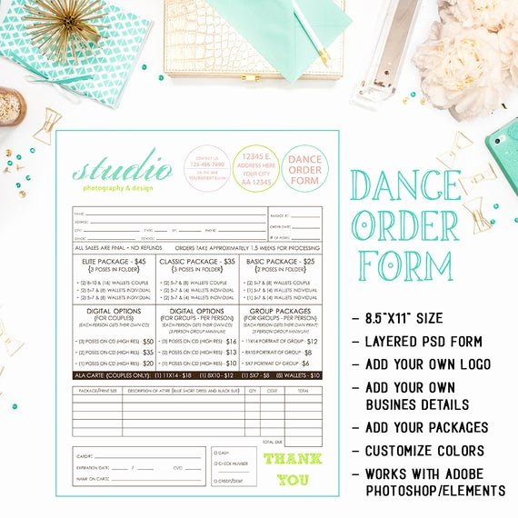 School Photo order form Template Best Of School Dance Dance Team Graphy order form Template