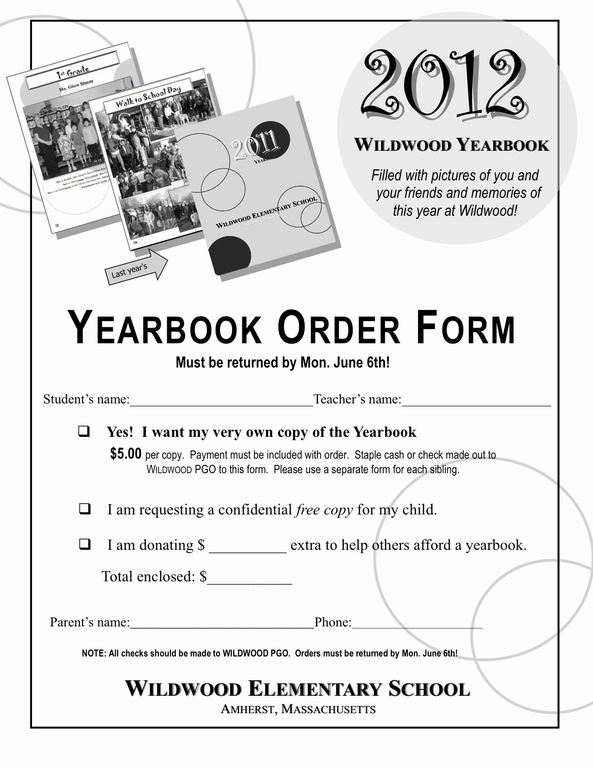 School Photo order form Template Elegant Yearbook order form Template Google Search