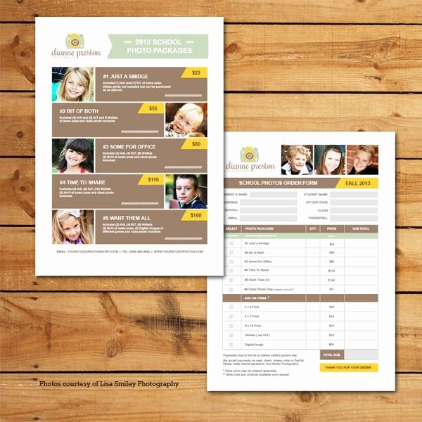 School Photo order form Template Fresh School S Pricing & order form Template
