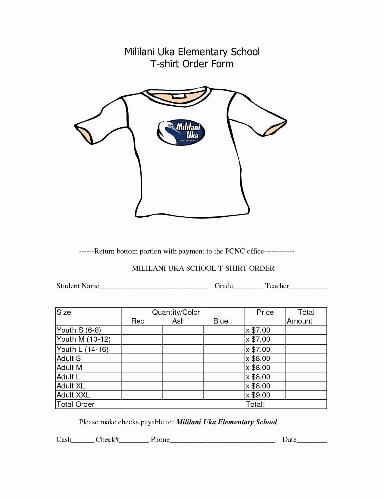 School Photo order form Template Fresh School T Shirt order form Template Clothes