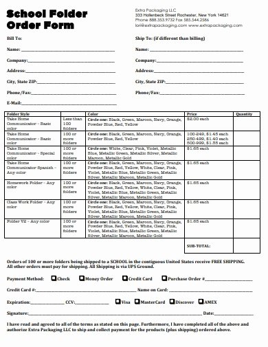 School Photo order form Template Inspirational 19 School order form Templates In Pdf Doc
