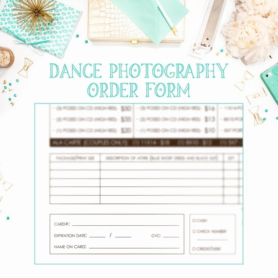 School Photo order form Template Luxury School Dance Dance Team Graphy order form Template