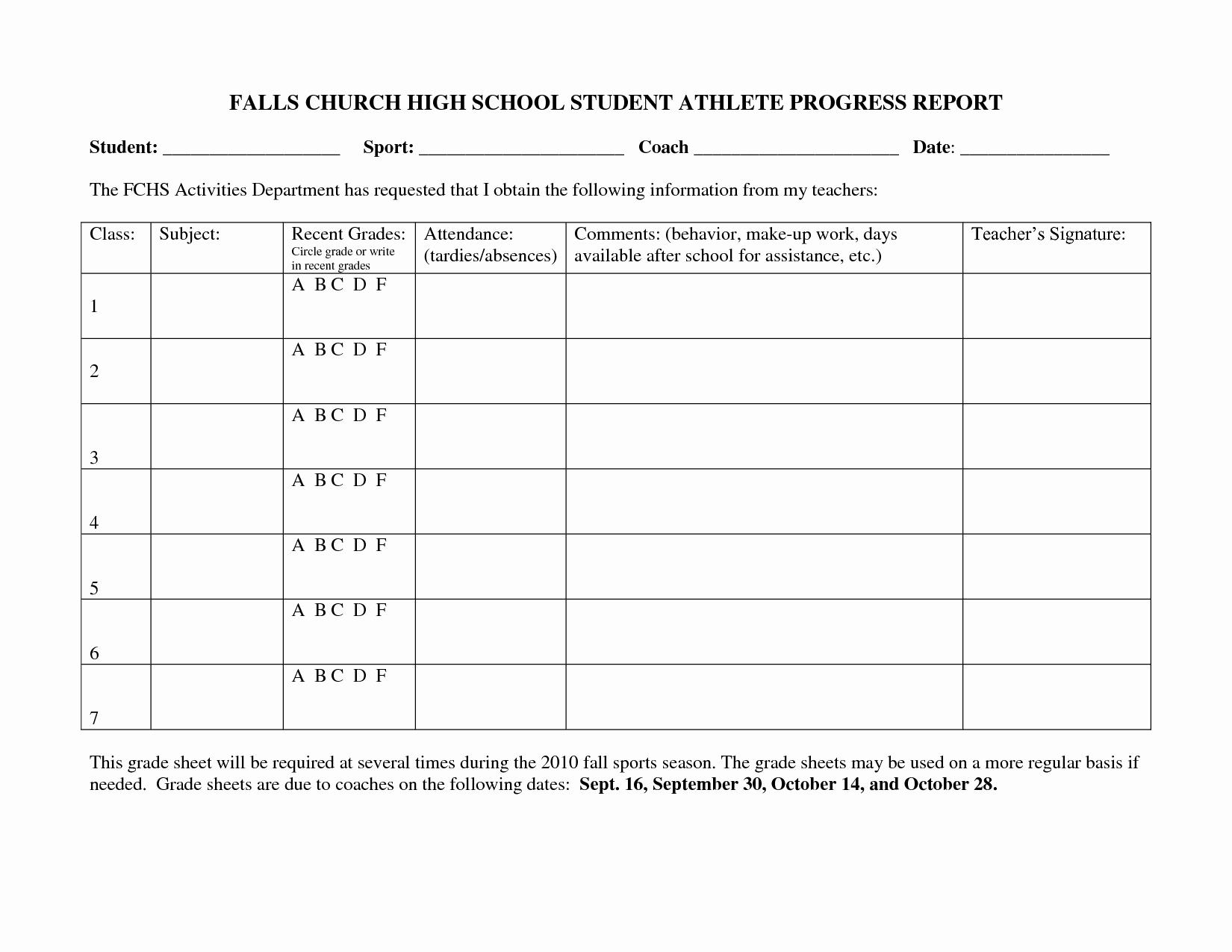 School Progress Report Template Fresh Best S Of School Progress Report Template Middle