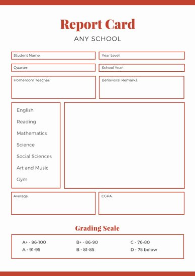 School Report Cards Templates Lovely Customize 10 016 Report Card Templates Online Canva