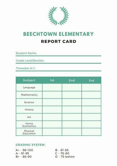 School Report Cards Templates Lovely Customize 10 018 Report Card Templates Online Canva