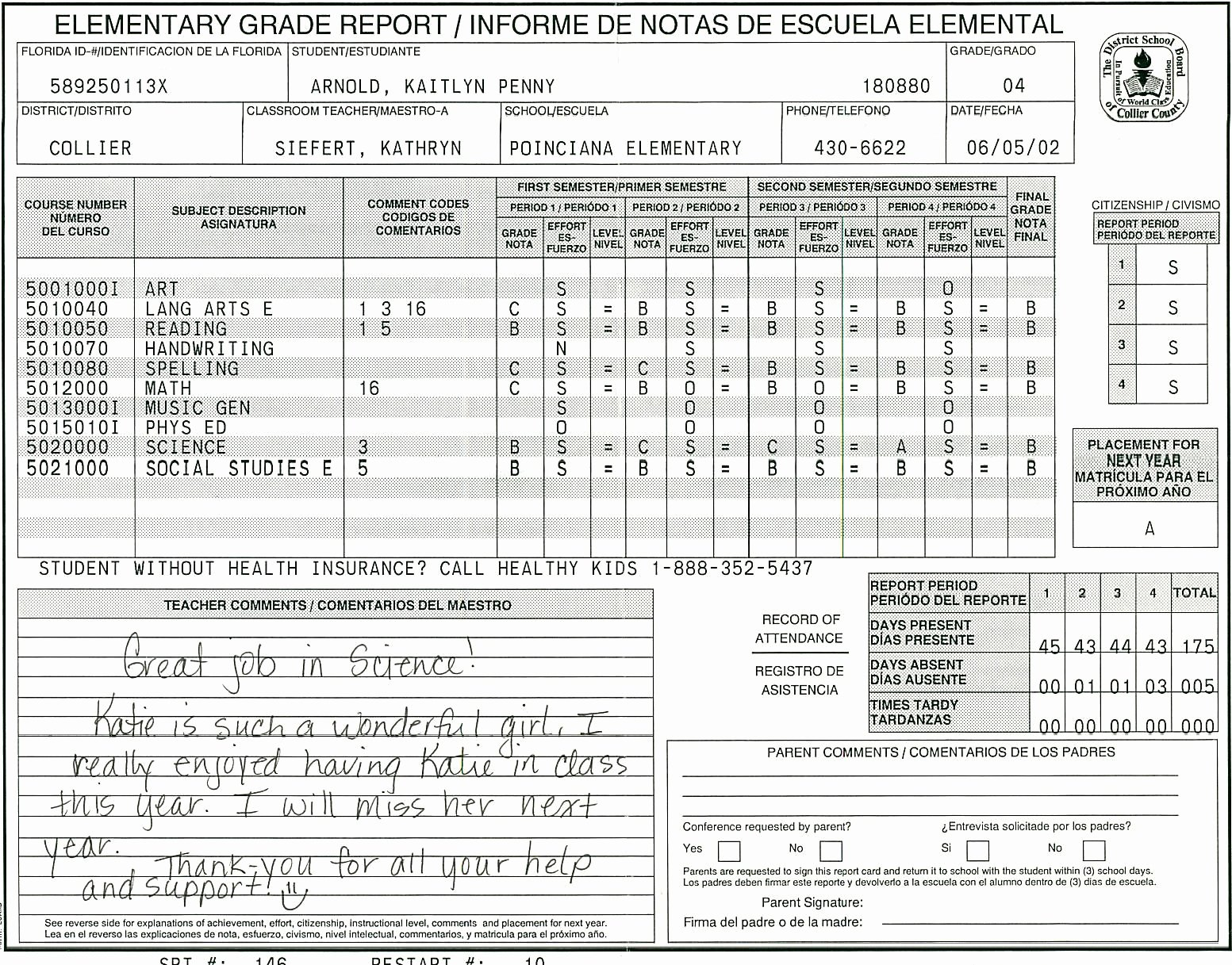 School Report Cards Templates Lovely Elementary School Report Card Template