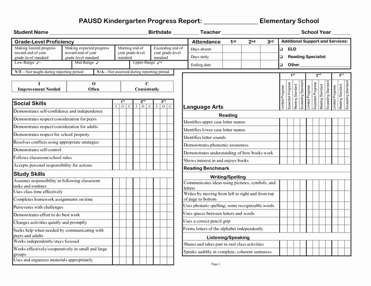 School Report Cards Templates Luxury Printable Progress Report Template Google Search