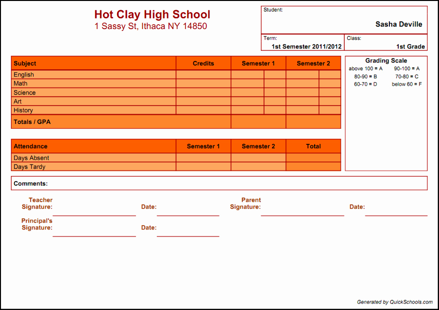 School Report Cards Templates Luxury Select A Template for Your School's Report Card soon