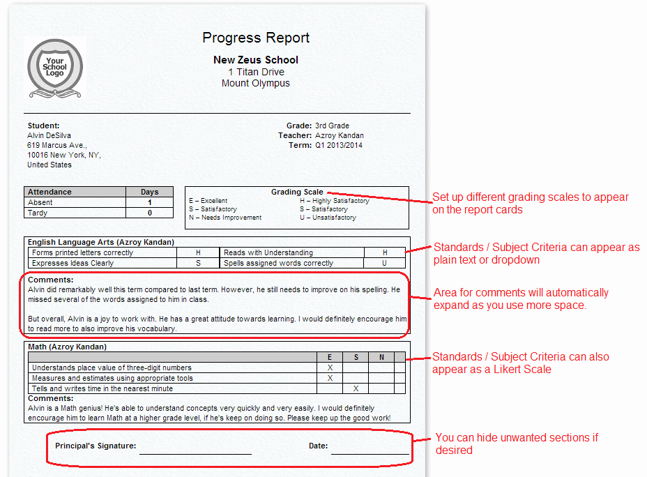 School Report Cards Templates New Report Cards for Primary K 3 K 8 Schools