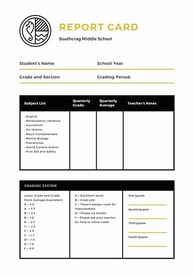 School Report Cards Templates Unique Customize 986 Report Card Templates Online Canva