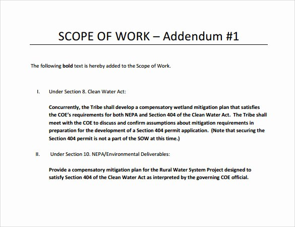 Scope Of Works Sample Luxury Free 21 Sample Scope Of Work Templates In Pdf Word