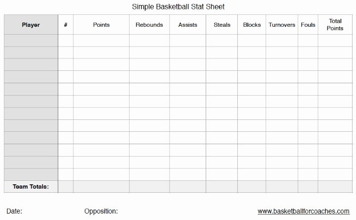 Score Sheets for Basketball Inspirational 3 Basketball Stat Sheets Free to and Print