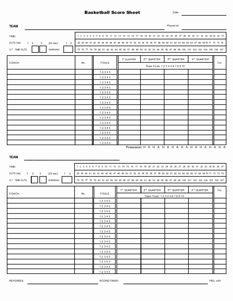 Score Sheets for Basketball Luxury Basketball Score Sheet Edit Fill Sign Line