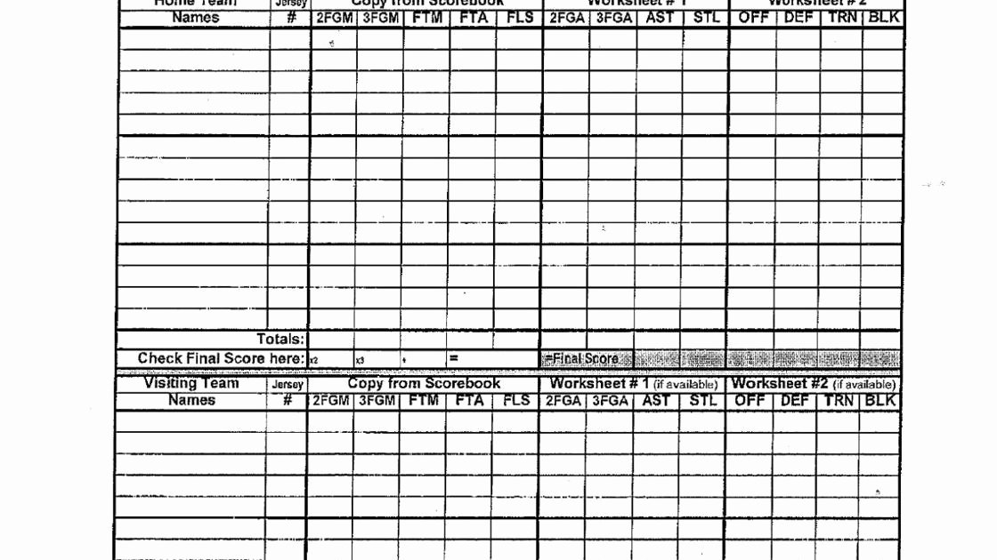 Scoring Sheets for Basketball Best Of Basketball Score and Stats Sheet