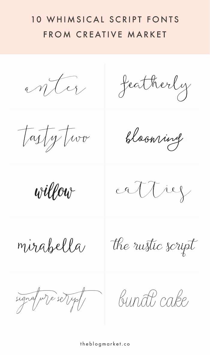 Script Fonts for Tattoos Best Of Whimsical Script Fonts From Creative Market
