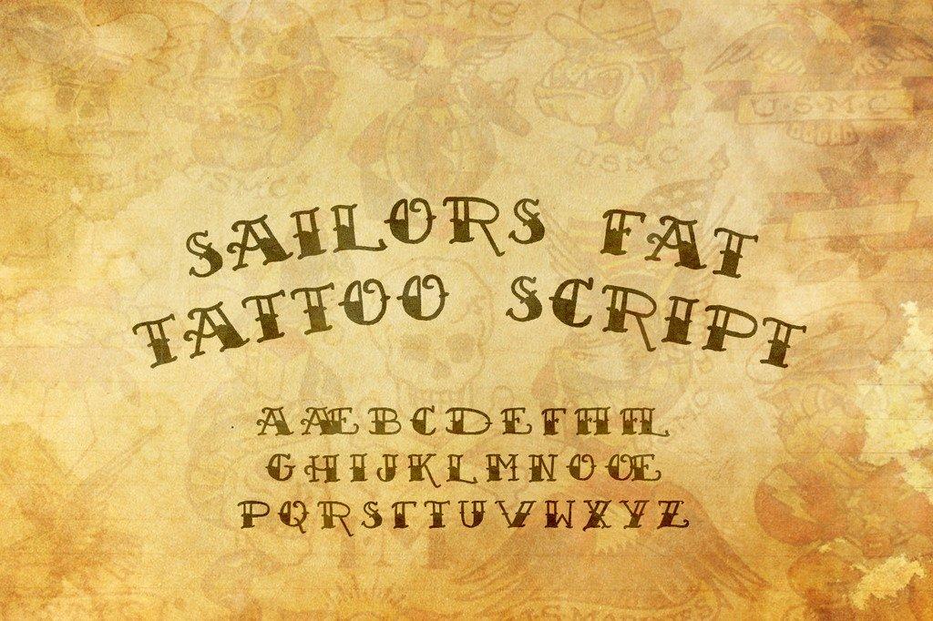 Script Fonts for Tattoos Elegant Sailor S Fat Tattoo Script Demo Font Family · 1001 Fonts
