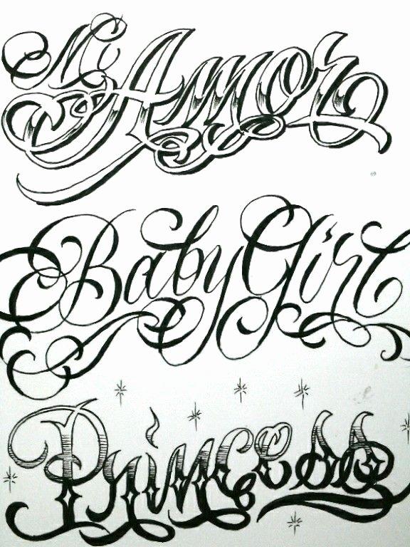 Script Fonts for Tattoos Fresh Letras Tibu Pinterest
