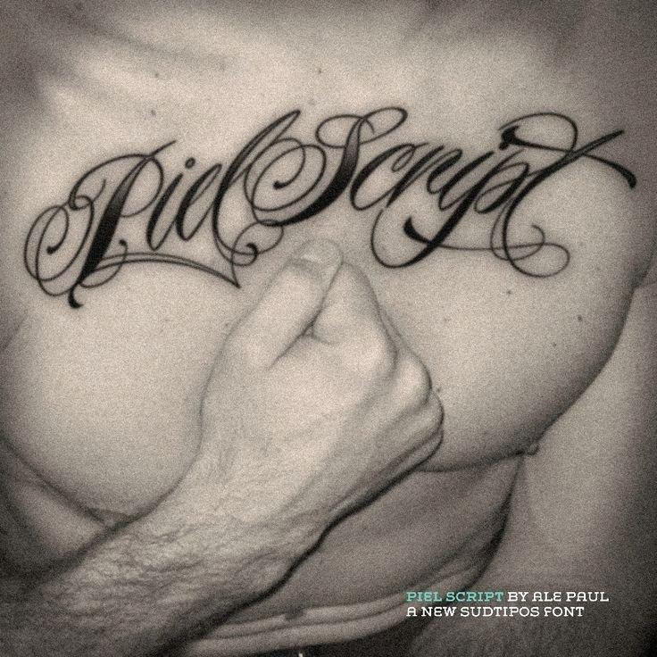 Script Fonts for Tattoos Fresh Tattoo Chest Script