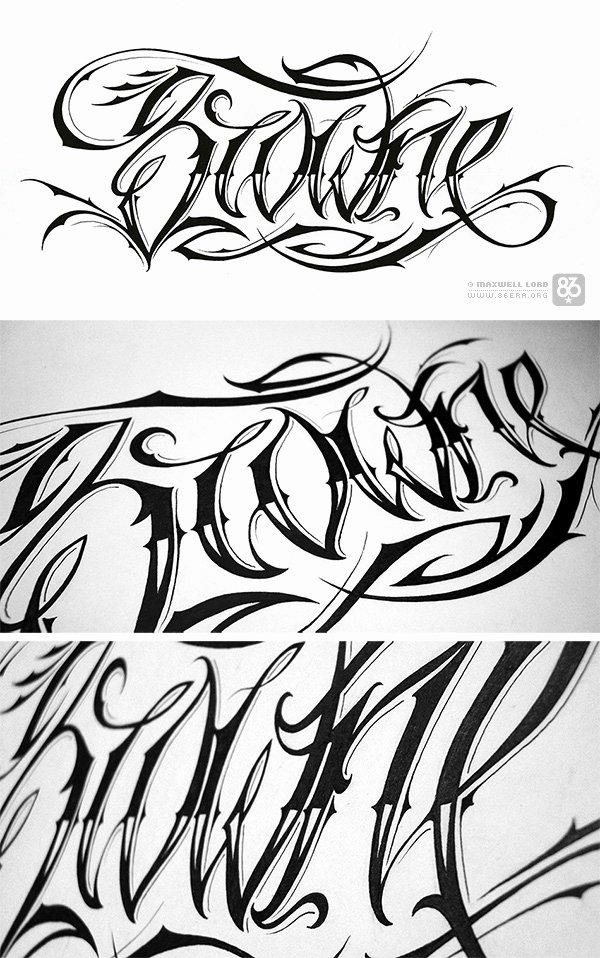 script tattoo design idea photos
