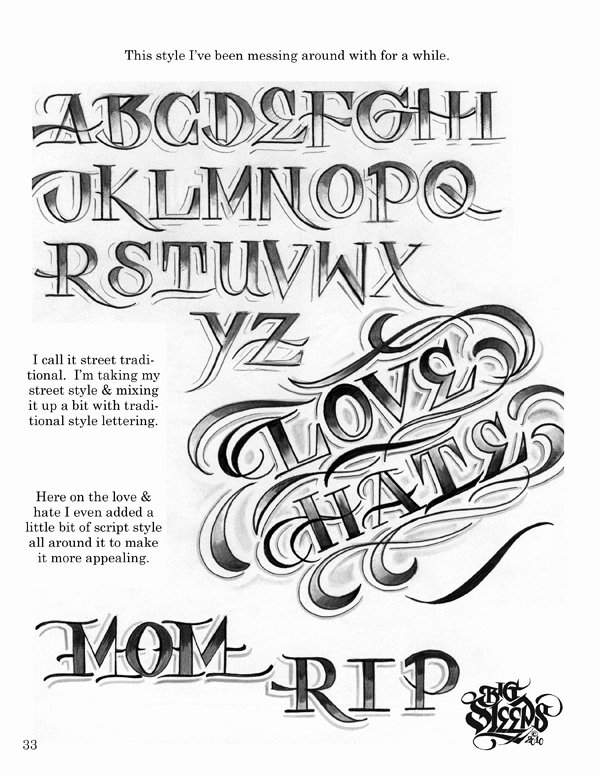 Script Fonts for Tattoos New Letters to Live by Volume 1 Tattoo Script Lettering
