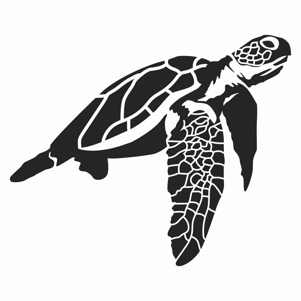 Sea Turtle Stencil Template Best Of Sea Turtle Wall Decal