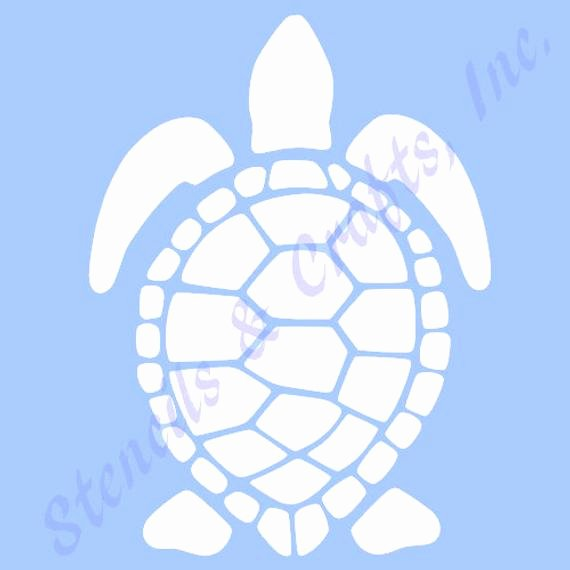 Sea Turtle Stencil Template Elegant 7 5 Turtle Stencil Template Sea Beach Ocean Sealife