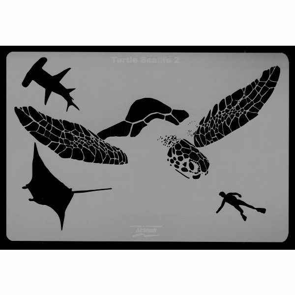 Sea Turtle Stencil Template Fresh Harder & Steenbeck Stencil Turtle Sea Life