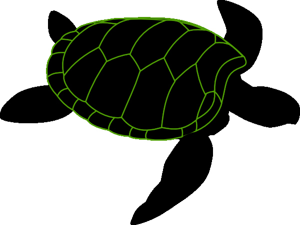 Sea Turtle Stencil Template Lovely Turtle Stencil Clip Art at Clker Vector Clip