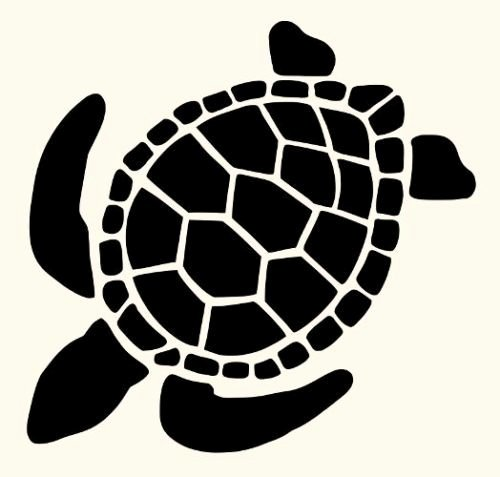 Sea Turtle Stencil Template Lovely Turtle Stencil Stencils Turtles Flexible Template Animal