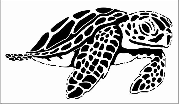 Sea Turtle Stencil Template Luxury Reusable Laser Cut 10 Mil Stencil Sea Turtle