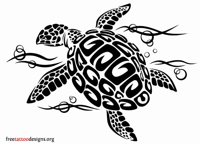 Sea Turtle Stencil Template New 50 Awesome Tribal Turtle Tattoos Designs