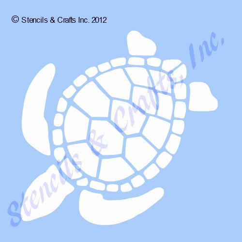 "Sea Turtle Stencil Template New 8"" Turtle Stencil Stencils Turtles Flexible Template"