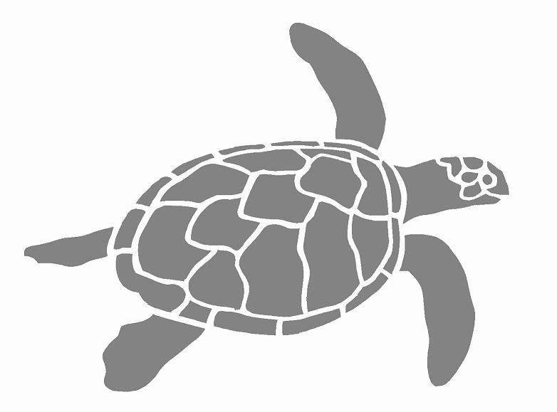 Sea Turtle Stencil Template New A4 Sea Turtle Airbrush Wall Art Paint Stencil 125um