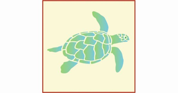 Sea Turtle Stencil Template New Sea Turtle Turtle Stencils Wall Stencils Sea Life