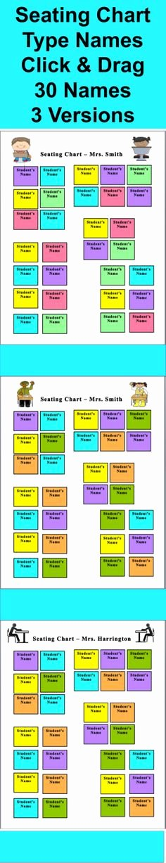 Seating Chart for Classroom Beautiful Seating Chart Classroom On Pinterest